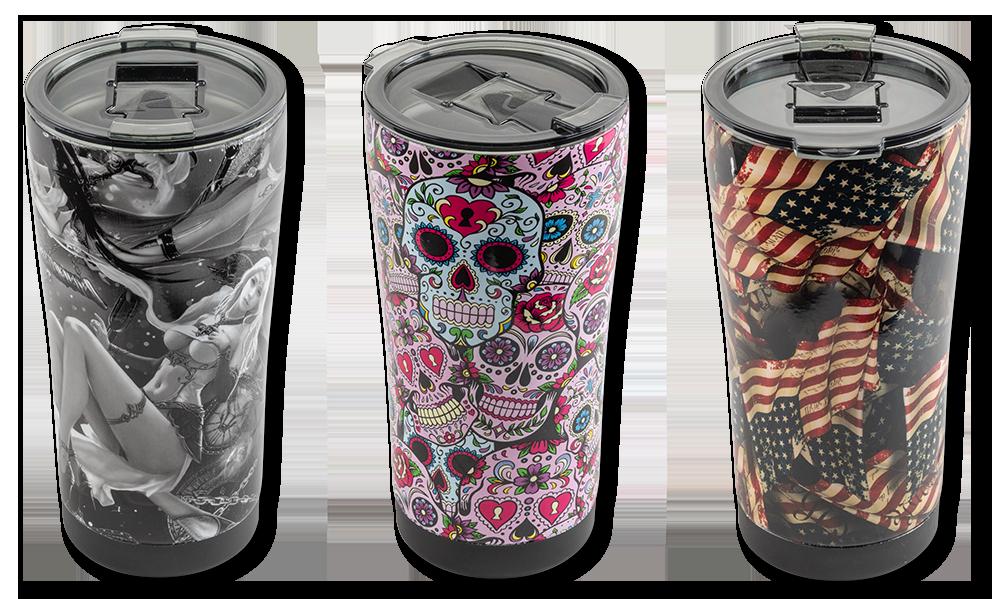Valhalla Custom Designed Stainless Steel Drinking Mugs
