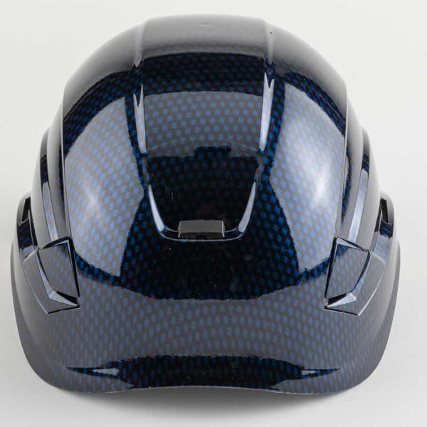 Blue Carbon graphic printed on Petzl Helmets