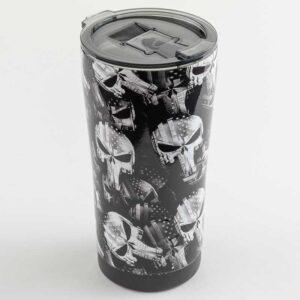 Punisher Skulls with Stars & Stripes in Black & White Mugs