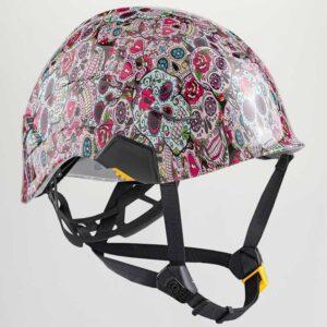 Pink Sugar Skulls graphic printed on Petzl Helmets Strap