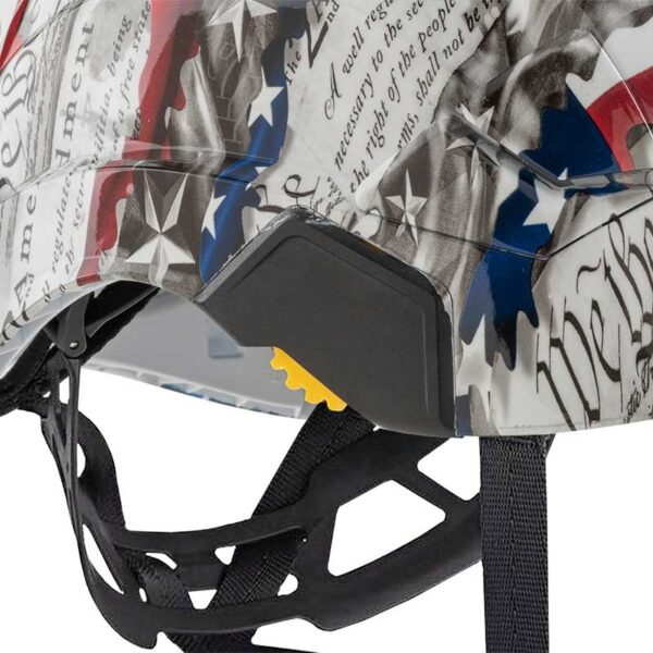 We the People in Red, White and Blue graphic printed on Petzl Helmets