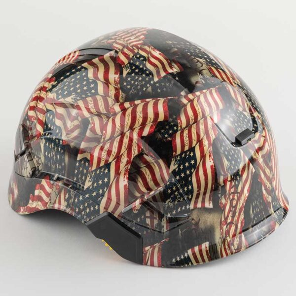 We the People Faded Glory in Color graphic printed on Petzl Helmets