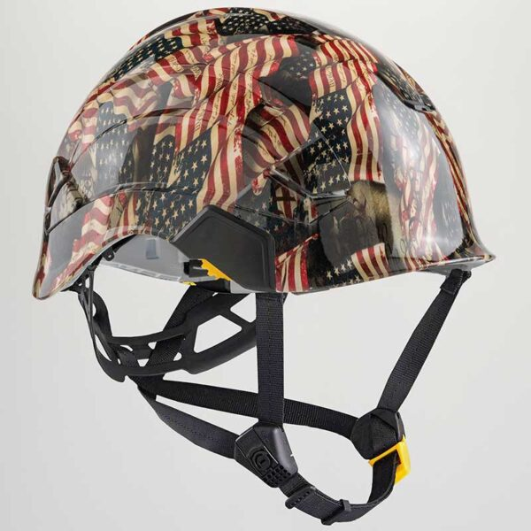 We the People Faded Glory in Color graphic printed on Petzl Helmets Strap