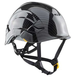 Black Carbon & Guns on Me graphic printed on Petzl Helmets | Custom Gear for the Wind Power industry