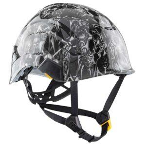 Tribal Skulls graphic printed on Petzl Helmets | Custom Gear for the Wind Power industry