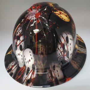 Bloody Horror Mask | Valhalla Safety Construction Helmet | TV-BHM-003 | Valhalla Custom Gear | Safety Helmet