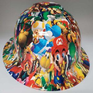 Mario in Color | Valhalla Construction Helmet | TV-MAR-003 | Valhalla Custom Gear | Safety Helmet