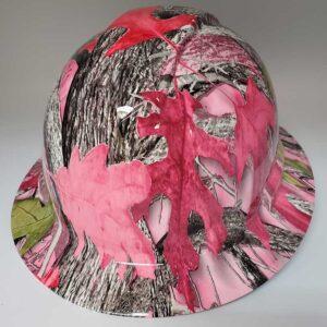 True Timber Camo with Pink Leaves | Valhalla Construction Helmet | TV-ABW-003 | Valhalla Custom Gear | Safety Helmet