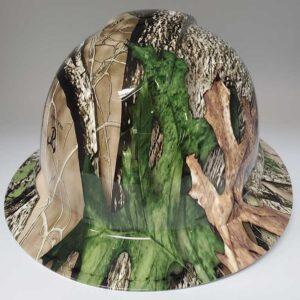 True Timber Camo in Green and Bark Colors | Valhalla Construction Helmet | TV-TTHTC | Valhalla Custom Gear | Safety Helmet