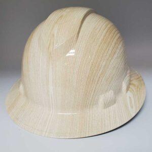 Woodgrain Light | Valhalla Construction Helmet | TV-WGL-003 | Valhalla Custom Gear | Safety Helmet