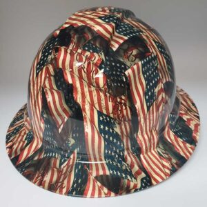 We the People and Faded Glory in Color | Valhalla Construction Helmet | TV-WTPUSF-003 | Valhalla Custom Gear | Safety Helmet