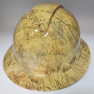 We The People - Faded Yellow | Valhalla Construction Helmet | TV-WTPY-003 | Valhalla Custom Gear | Safety Helmet