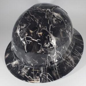 Chained Skulls l Custom hydro dipped hard hats | Construction Helmet | Safety Helmet | Safety Hard Hats | Construction Helmet | Safety Helmet