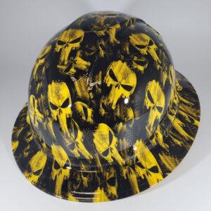 Yellow Punisher l Custom hydro dipped hard hats | Construction Helmet | Safety Helmet | Safety Hard Hats | Construction Helmet | Safety Helmet