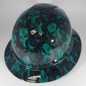 Green Punisher l Custom hydro dipped hard hats | Construction Helmet | Safety Helmet | Safety Hard Hats | Construction Helmet | Safety Helmet