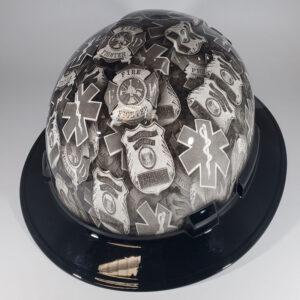 First Responders l Custom hydro dipped hard hats | Construction Helmet | Safety Helmet | Safety Hard Hats | Construction Helmet | Safety Helmet