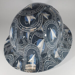 Space Force l Custom hydro dipped hard hats | Construction Helmet | Safety Helmet | Safety Hard Hats | Construction Helmet | Safety Helmet