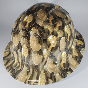 Trump Gold Coin l Custom hydro dipped hard hats | Construction Helmet | Safety Helmet | Safety Hard Hats