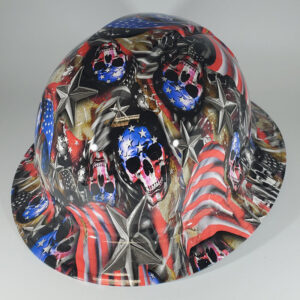 Proud American in Red White and Blue | Construction Helmet | Safety Helmet
